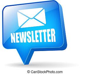 newsletter, vetorial, bolha