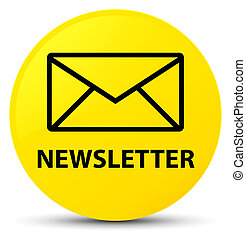 Newsletter yellow round button