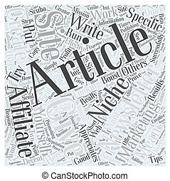 Newsletters and affiliate marketing Word Cloud Concept