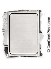 Newspaper Ad - Blank newspaper ad, ready for your text. ...