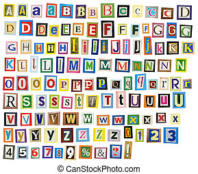 Newspaper alphabet