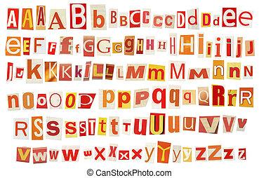 Newspaper alphabet