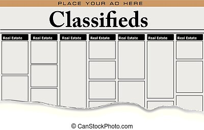 Newspaper classifieds Real Estate