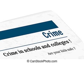newspaper - crime - newspaper with grunge effect - crime,...