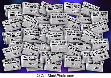 Newspaper Headlines Background Big News Important Story