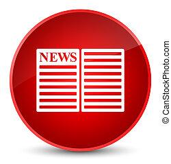 Newspaper icon elegant red round button