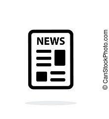 Newspaper icon on white background. Vector illustration.