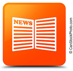 Newspaper icon orange square button