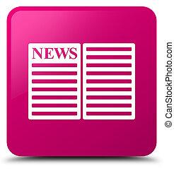 Newspaper icon pink square button
