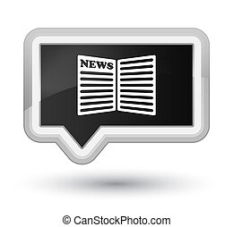 Newspaper icon prime black banner button