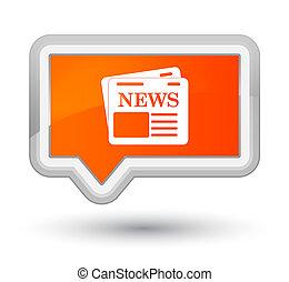 Newspaper icon prime orange banner button