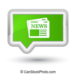 Newspaper icon prime soft green banner button