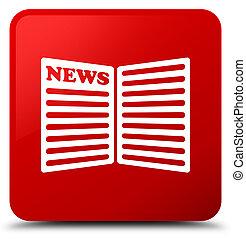 Newspaper icon red square button