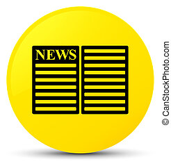 Newspaper icon yellow round button