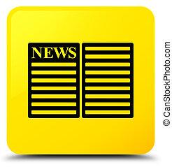 Newspaper icon yellow square button
