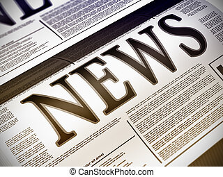 Newspaper - Illustration of a newspaper with news related ...