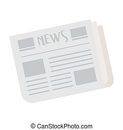 newspaper information isolated icon on white background