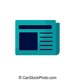 newspaper information medium isolated icon vector ...