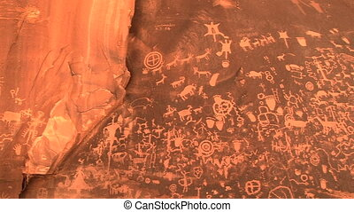 Newspaper Rock, Petoglyphs - Petoglyphs, Newspaper Rock...