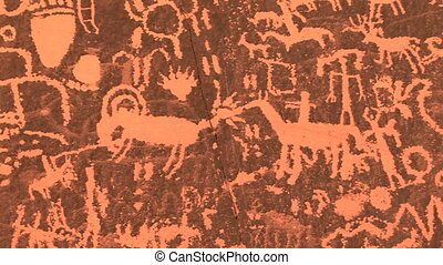 Newspaper Rock, Petoglyphs - Petoglyphs, Newspaper Rock...