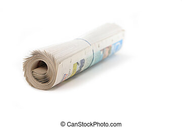 newspaper roll - a roll of newspaper, concept of news media