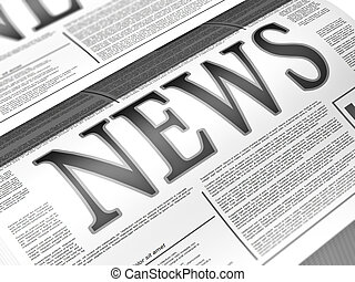 Newspaper - Illustration of a newspaper with news related...