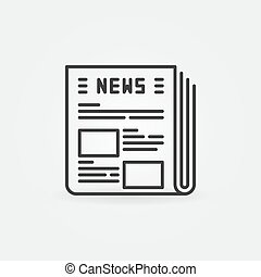 Newspaper vector icon