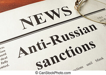 news and Anti-Russian sanctions - Newspaper with word news ...
