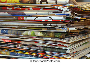 Newspapers - A pile of newspapers