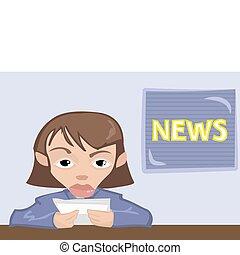 newsreaderl, illustration