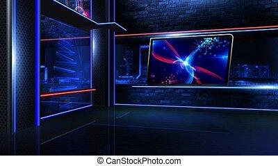 newsroom, neon, faktyczny, długi
