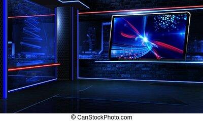 newsroom, zamknięcie, neon, faktyczny