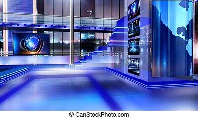 Newsroom_Vset3 - Virtual set studio for chroma footage...