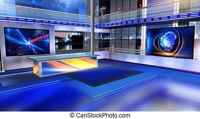 Newsroom_Vset4 - Virtual set studio for chroma footage...