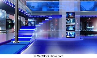 Newsroom_Vset6 - Virtual set studio for chroma footage...