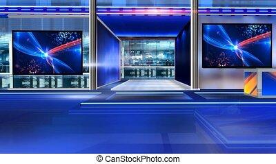 Newsroom_Vset7 - Virtual set studio for chroma footage...