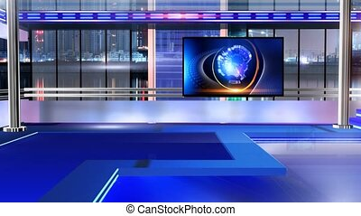 Newsroom_Vset8 - Virtual set studio for chroma footage...