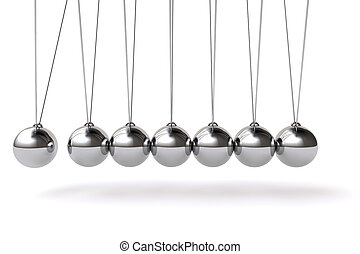 Newton cradle background