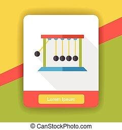 Newton cradle flat icon