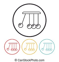 Newton cradle line icon