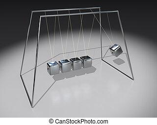 Newton Pendulum Cubes