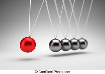 Newton's cradle - 3d render