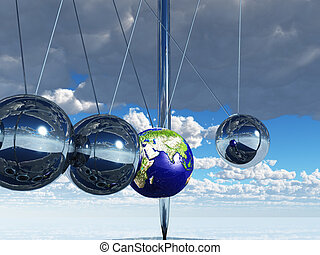 Newtons Cradle Earth