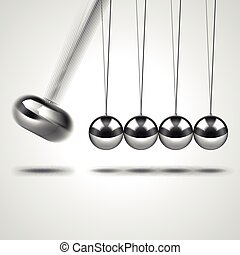 Newtons cradle isolated on white vector