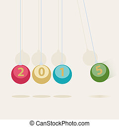 Newtons Cradle New Year card