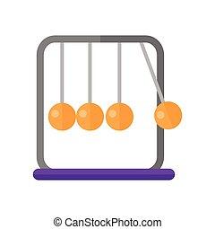 Newton's Cradle Vector Illustration in Flat Design