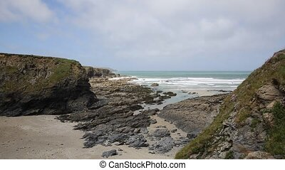 Newtrain Bay North Cornwall coast