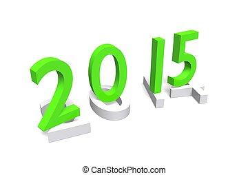 NewYear, 2015 - green nummbers, Date 2015