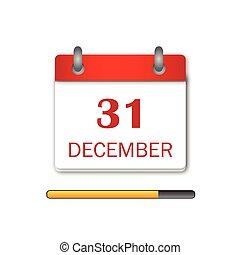 Newyear Day Calendar Icon vector