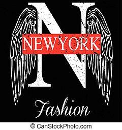 newyork, ciudad, diseño gráfico